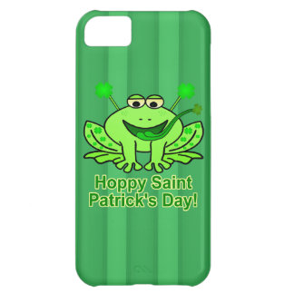Cute Irish Saint Patrick's Day Frog Case For iPhone 5C