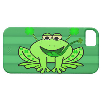 Cute Irish Saint Patrick's Day Frog iPhone SE/5/5s Case