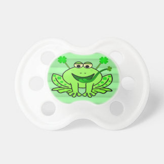 Cute Irish Saint Patrick's Day Frog Pacifier