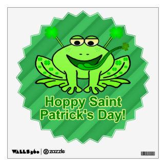 Cute Irish Saint Patrick's Day Frog Wall Sticker