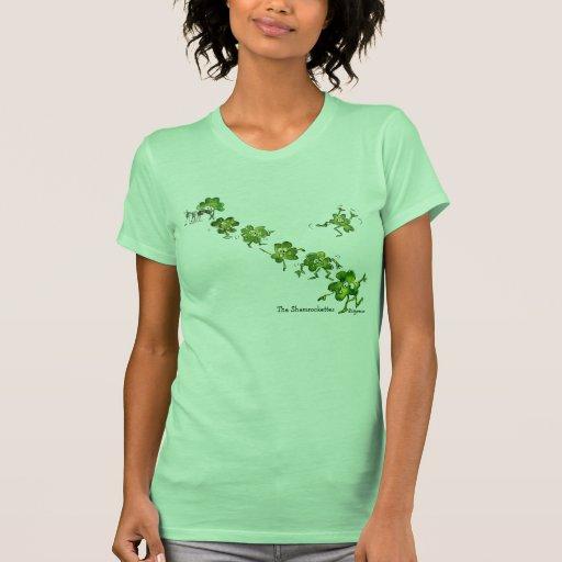 Cute Irish Shamrock Dancers T-shirt
