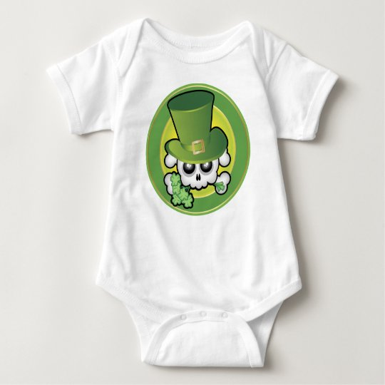Cute Irish Skull Baby Bodysuit