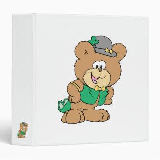 cute irish st paddy boy teddy bear lad design binder