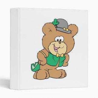 cute irish st paddy boy teddy bear lad design 3 ring binders