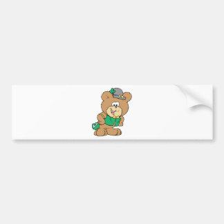 cute irish st paddy boy teddy bear lad design car bumper sticker
