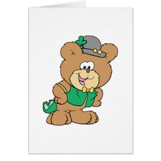 cute irish st paddy boy teddy bear lad design card