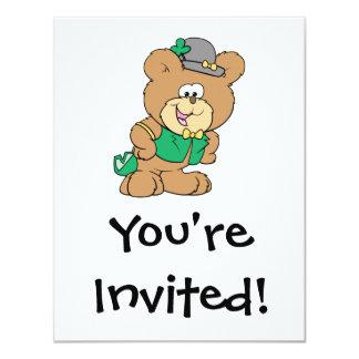cute irish st paddy boy teddy bear lad design invite