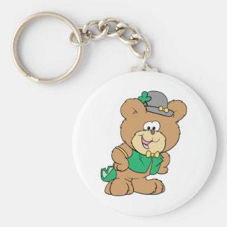 cute irish st paddy boy teddy bear lad design key chains