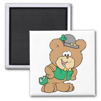 cute irish st paddy boy teddy bear lad design magnets