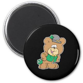 cute irish st paddy boy teddy bear lad design fridge magnets