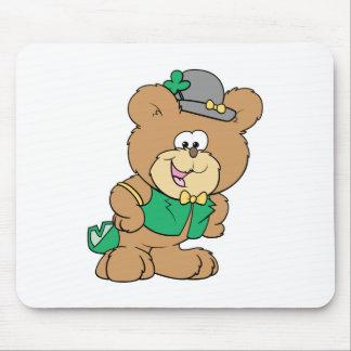 cute irish st paddy boy teddy bear lad design mouse pads