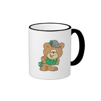 cute irish st paddy boy teddy bear lad design coffee mugs