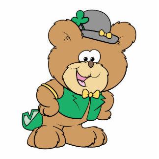 cute irish st paddy boy teddy bear lad design acrylic cut out