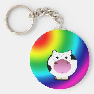 Cute Irregular Moo Keychain