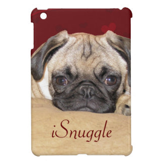 Cute iSnuggle Pug Puppy iPad Mini Cases
