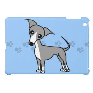 Cute Italian Greyhound Cartoon  - Pawprint Blue Cover For The iPad Mini