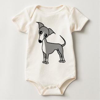 Cute Italian Greyhound - Grey Baby Bodysuit