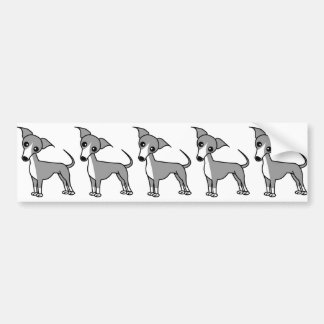 Cute Italian Greyhound - Grey Bumper Sticker