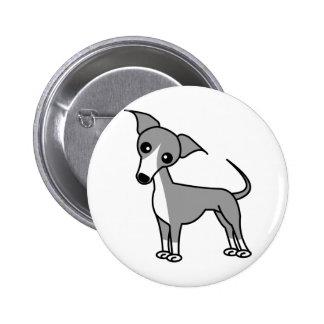 Cute Italian Greyhound - Grey Button