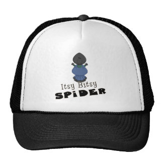 cute itsy bitsy spider cartoon character trucker hat
