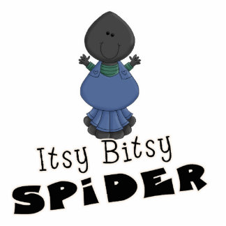 cute itsy bitsy spider cartoon character standing photo sculpture