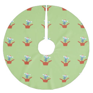 cute jack in the box brushed polyester tree skirt - Jack In The Box Open On Christmas