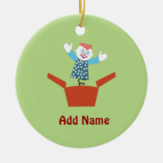 Cute Jack in the Box Ceramic Ornament