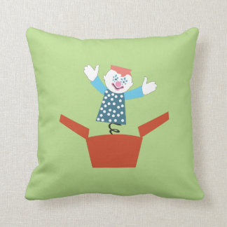 Cute Jack in the Box Throw Pillow
