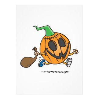 cute jack-o-lantern pumpkin cartoon character custom invitations