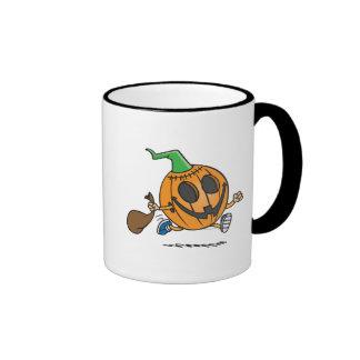 cute jack-o-lantern pumpkin cartoon character mugs