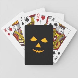 Cute Jack o Lantern Pumpkin Face Halloween Games Playing Cards