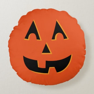 Cute Jack O Lantern Pumpkin Pillow
