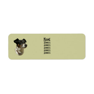 Cute Jack Russell Dog Avery Label