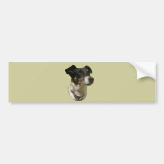 Cute Jack Russell Dog Car Bumper Sticker