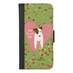 Wallet Case with Jack Russell Terrier Phone Cases design