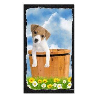 Cute Jack Russell puppy Business Card