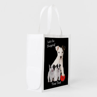 Cute Jack Russell Puppy Grocery Bag – Customize It