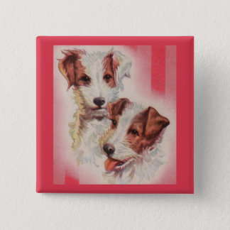 CUTE Jack Russell terriers illustration Button