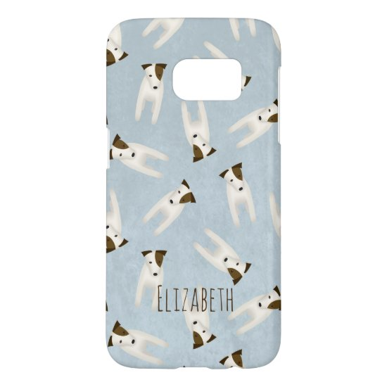 cute jack russell terriers patterned samsung galaxy s7 case
