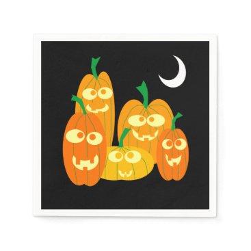 Halloween Themed Cute Jackolantern Pumpkins Cartoon Halloween Party Napkin
