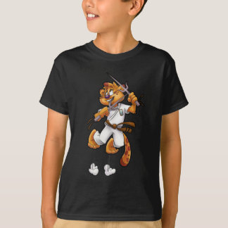 Cute Jaguar cartoon karate T-Shirt
