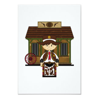 Cute Jailhouse Cowboy RSVP Card