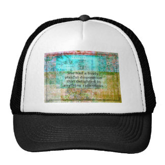 Cute Jane Austen quote from Pride and Prejudice Trucker Hats