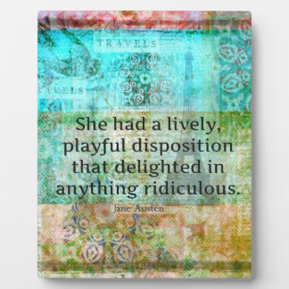 Cute Jane Austen quote from Pride and Prejudice Photo Plaques