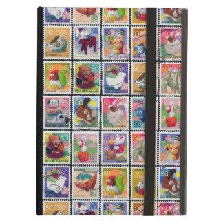 Cute Japan Year of Animal Stamp Pattern iPad Air Covers
