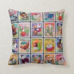 Cute Japan Year of Animal Stamp Pattern Pillow