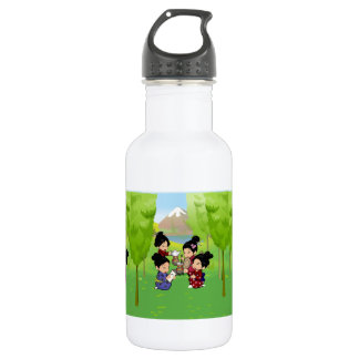 Cute Japanese Girls Tea Party Stainless Steel Water Bottle