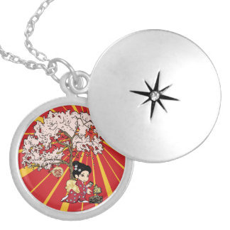cute Japanese Inspired art Locket Necklace