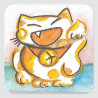 Cute Japanese Lucky Cat Stickers