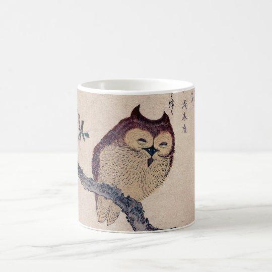 Cute Japanese Smiling Owl Coffee Mug